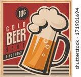 Retro Beer Vector Poster....