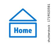 stay at home in simple house... | Shutterstock .eps vector #1719020581