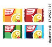 instant noodles pack vector... | Shutterstock .eps vector #1719023434