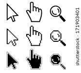 vector illustration hand cursor ...   Shutterstock .eps vector #171903401