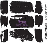 paint strokes with a dry brush... | Shutterstock .eps vector #1719045994