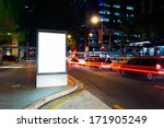 advertising light boxes in the... | Shutterstock . vector #171905249