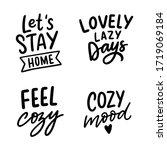 set of hand drawn lettering... | Shutterstock .eps vector #1719069184
