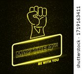 may the 4th be with you... | Shutterstock .eps vector #1719163411