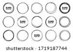 hand drawn circles sketch frame ...   Shutterstock .eps vector #1719187744