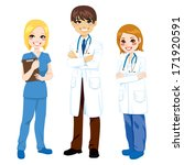 illustration of three hospital... | Shutterstock .eps vector #171920591