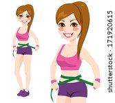 fit sporty woman in sports top... | Shutterstock .eps vector #171920615