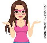 beautiful brunette woman with... | Shutterstock .eps vector #171920627