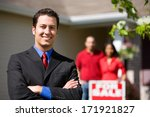 Real Estate  Confident Agent...