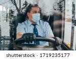 Young Hispanic Man Bus Driver ...