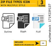 zip file types premium icon...