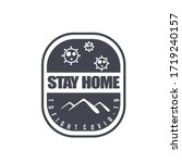 vector graphic of stay home... | Shutterstock .eps vector #1719240157