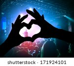 a crowd of people at a concert... | Shutterstock . vector #171924101