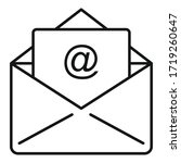 campaign email icon. outline... | Shutterstock .eps vector #1719260647