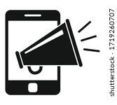 smartphone campaign megaphone... | Shutterstock .eps vector #1719260707