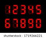 electronic numbers. digital... | Shutterstock .eps vector #1719266221
