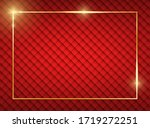 gold shiny glowing frame with...   Shutterstock . vector #1719272251