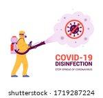 coronavirus disinfection... | Shutterstock .eps vector #1719287224