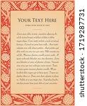 fairy tale frame. flower border.... | Shutterstock .eps vector #1719287731