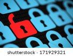 internet security concept open...   Shutterstock . vector #171929321