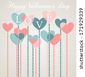 happy valentine's day greeting... | Shutterstock .eps vector #171929339