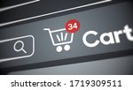 Online Shopping  3d. Close Up...