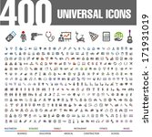 400 universal icons. | Shutterstock .eps vector #171931019