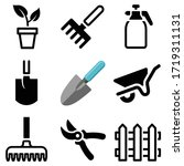 garden tool icon collection  ... | Shutterstock .eps vector #1719311131