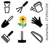 garden tool icon collection  ... | Shutterstock .eps vector #1719311134