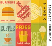 retro fast food posters... | Shutterstock .eps vector #171934931