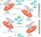 Hand Drawing Shark Print Design ...
