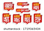 order online price tags... | Shutterstock .eps vector #1719365434