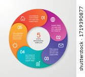 circle arrows for infographics. ... | Shutterstock .eps vector #1719390877