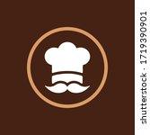 food logo. chef cap with... | Shutterstock .eps vector #1719390901