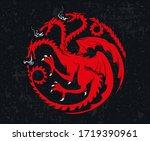 may 01  2020  heraldic symbol... | Shutterstock .eps vector #1719390961
