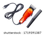 Hair Clipper Isolated On White...