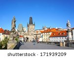 Charles Bridge In Prague  Czec...