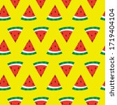 seamless watermelon slice... | Shutterstock .eps vector #1719404104