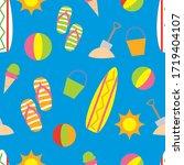 seamless summer element pattern.... | Shutterstock .eps vector #1719404107