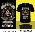 scorpio t shirt design i am not ...   Shutterstock .eps vector #1719407767