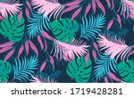 seamless   pattern of tropical... | Shutterstock .eps vector #1719428281