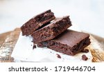 Chocolate Brownies On Parchment ...
