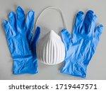 mask and gloves for coronavirus ...   Shutterstock . vector #1719447571