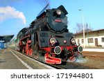 black red steam train with... | Shutterstock . vector #171944801
