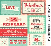 set of hipster valentine's day... | Shutterstock .eps vector #171945041