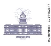 kentucky state capitol located... | Shutterstock .eps vector #1719462847