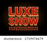 vector chic luxe show poster... | Shutterstock .eps vector #1719476674