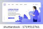 business website template... | Shutterstock .eps vector #1719512761