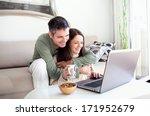 beautiful young couple relaxing ... | Shutterstock . vector #171952679