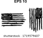 usa flag. distressed american... | Shutterstock .eps vector #1719579607